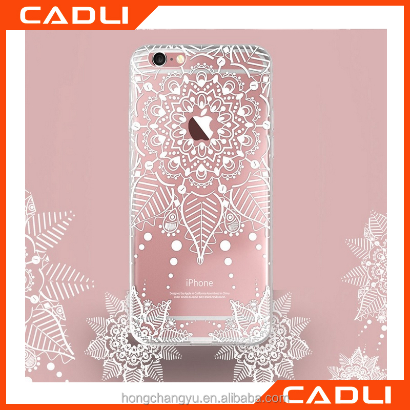 2016 Newest Luxury Sexy Lace Silicone Case For iPhone 5 5S SE Transparent Flower Pattern TPU Soft Cover