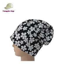 NEW Unisex floral pattern Oversized Slouch Baggy Beanie Hat Mens/Ladies