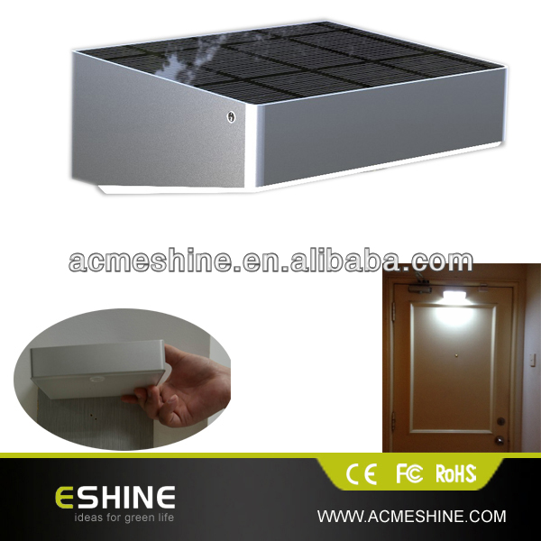help you to find the key to unlock the door at nigh by solar led sensor door light with pir motion sensor