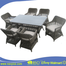 China Factory Fashion Garden Furniture Outdoor Rattan Sofa set Patio Round Wicker rattan furniture outdoor Dining Sets