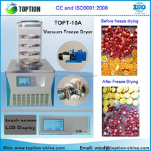 High Efficiency Laboratory freeze dryer Fruit and Vegetable Processing lyophilizer vacuum freeze dryer from TOPTION China