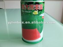customize round empty soft drink tin cans