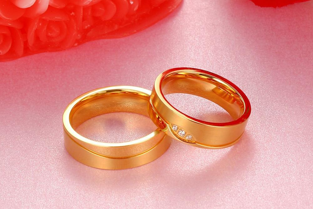 2016 new products listed, 6 mm stainless steel heart lovers ring, factory direct sale YSS694