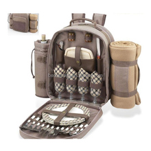 multiple backpack wine bottle carrier and wine glass bag for picnic