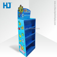 Corrugated Paper Fruit Candy Display Rack /Cardboard Promotion Display Sheif With Customized Printing