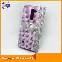Customized Flip Bling Bling Crystal Rhinestone Cell Phone Cases For LG K4 K7 K10