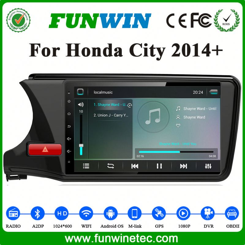 Support 3G/Wifi/Audio/Video GPS Software Car Stereo For Honda City 2015