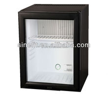 XC-25BB Glass door small freezer used in hotel guest room