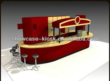 Mall food service kiosk design for shopping mall