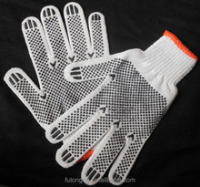 personal protective equipment 55g pvc dotted cotton safety hand gloves