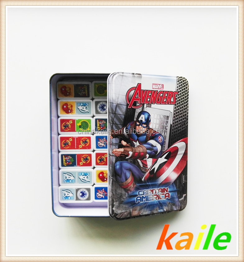 Carton theme-American Hero domino in tin box
