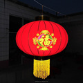 Antique Chinese Red Silk Lanterns