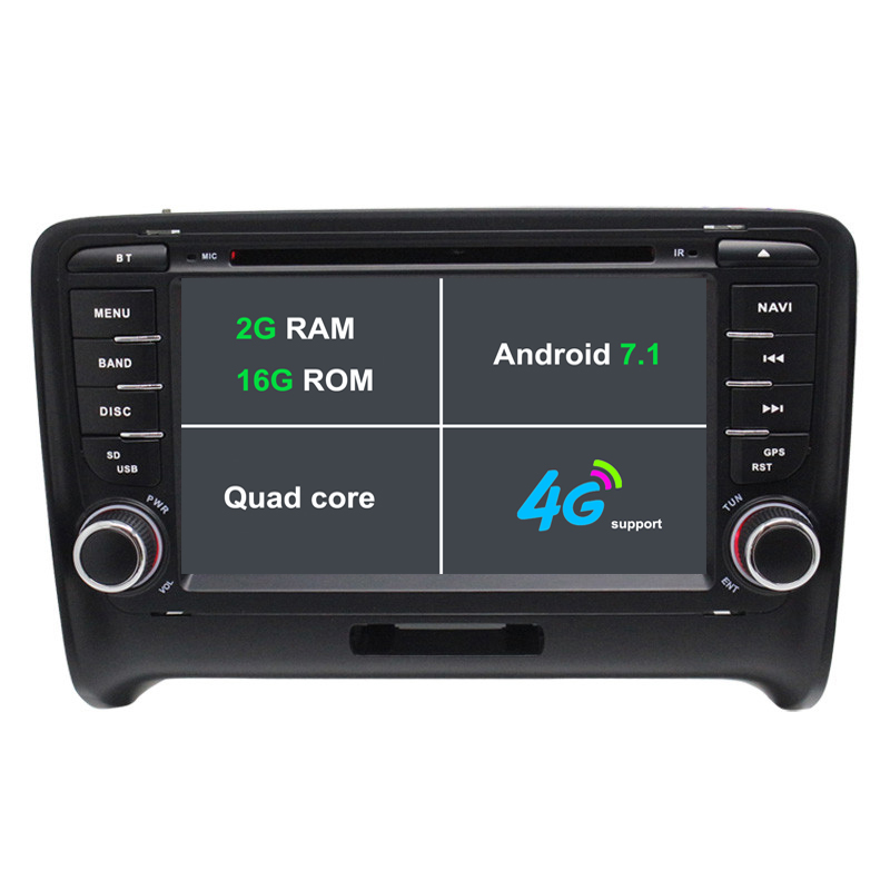 Android 7.1 Car DVD Player For Audi TT 2006-2012 Car radio GPS navigation car stereo headunit tape recorder 2G RAM 3G/4G WIFI