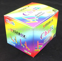 Unique small rainbow color chalk packaging paper box with logo printing