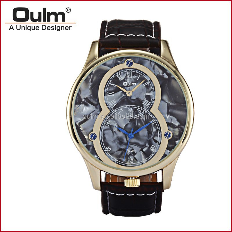 2017 oulm new product, fashion jewelry watch, vintage dial watch express in alibaba