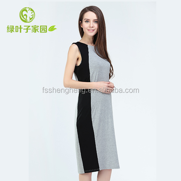 stylish colorful cotton gowns for pregnant women S0001