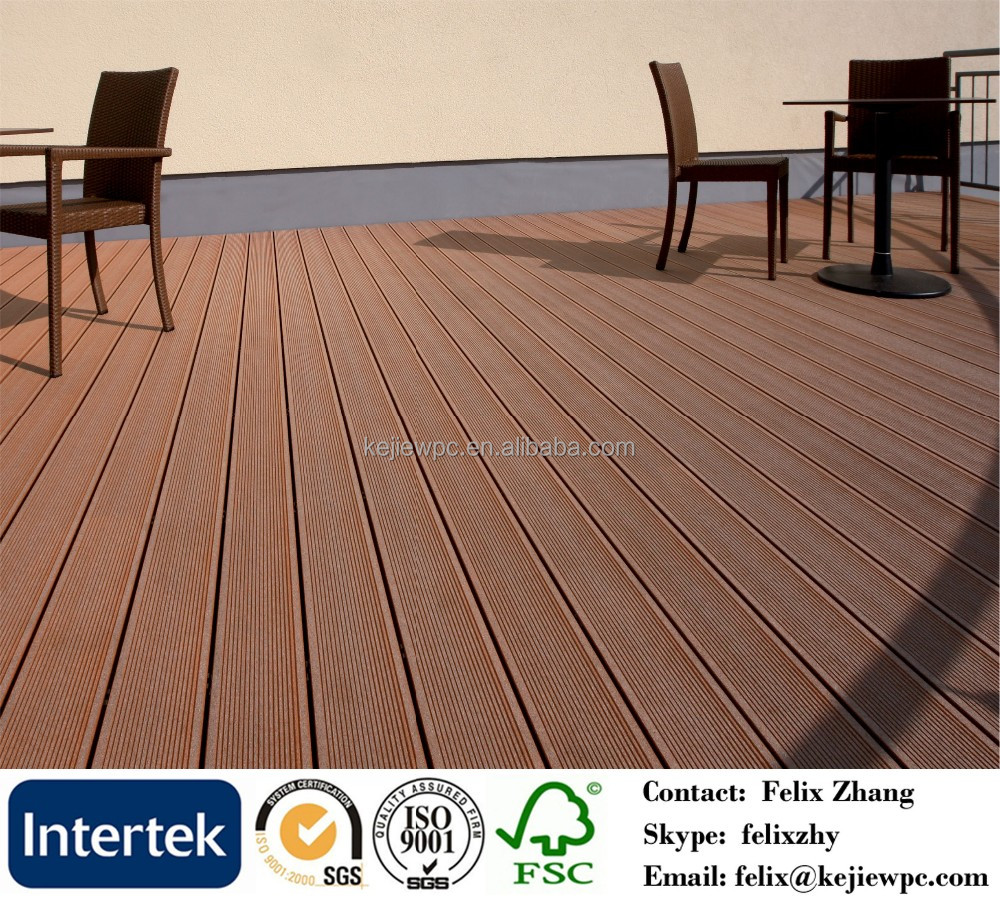 WPC Engineered Floor Water Proof Decking For Outdoor Using Environmental Material
