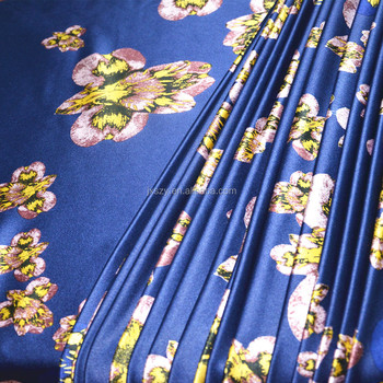 silk satin fabric printed silk satin for garment fabric