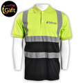 Reflective Men Uniform Polo Shirt Workwear