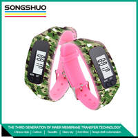 best brand best quality Newest top promotion silicone watch sport pedometer with popular style outdoor sport watch bracelet