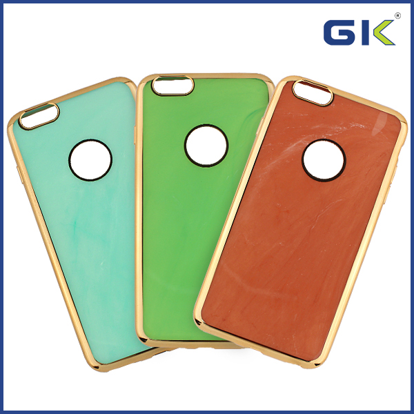 [GGIT] Luxury Electroplate With Jade Grain TPU Cell Phone Case For IPhone 6 Cover