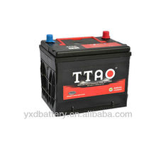 JIS Standard MF battery 55D23R 12V car battery