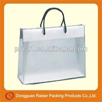 High quality pvc bag with soft handle and trim for gift