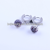 2014 new design flashing colored ball stone drop earring for women