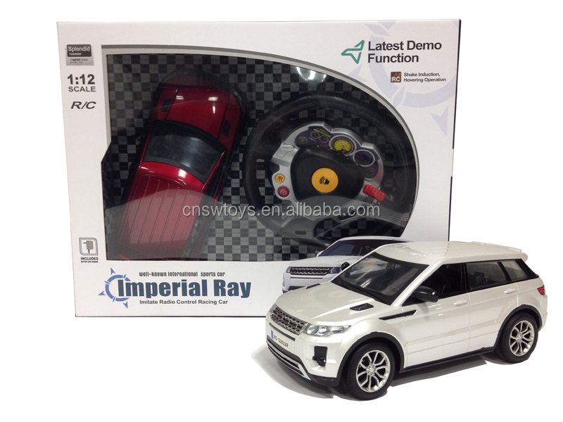 Toys 1:12 scale model car with batteries demo function imperial ray and white color 4 channel remote control car
