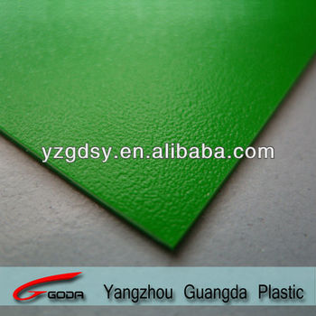 Green rough matt rigid PVC sheets china