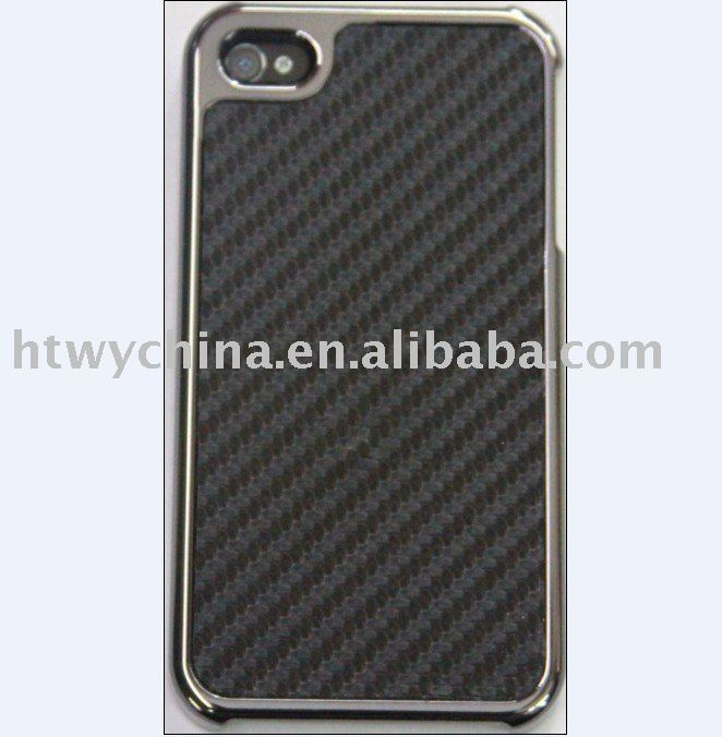 For iPhone 4g Black Carbon Fiber Case, Mobile Phone Accessory