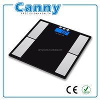 body composition analyzer with data showing step by step
