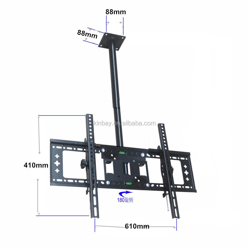 Flat panel telescopic lcd tv ceiling mount bracket for Motorized ceiling tv mounts for flat screens