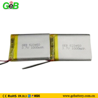 GEB 523450 3.7v rc helicopter battery 1000mah rechargeable battery for remote control car