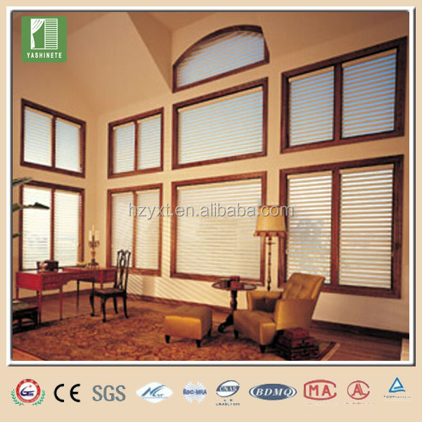 Cordless window roll up house shades