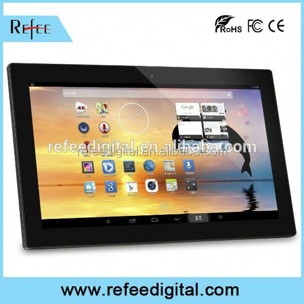 18-22inch table stand/wall mount network information kiosk android tablet digital signage