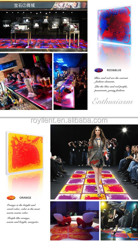 ROYLLENT Disco Liquid Fusion dance floors 500*500MM