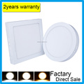 Factory direct sale price surface mounted 6W 12W 18W 24W AC85-265V led ceiling panel light