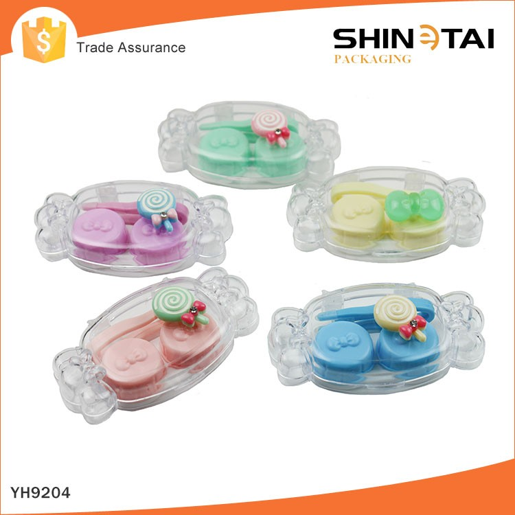 Online Wholesale Low Price Mini MOQ Candy Shape Fashion Stylish Contact Lens Cases
