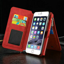 Black phone cases/sublimation leather flip cover for iphone 6s plus wallet case