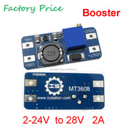 Wholesale DC-DC 2A Adjustable Step Up Boost Power Supply Converter Module 2-24v Input 2/5/12/24V to 5/9/12/28V converter