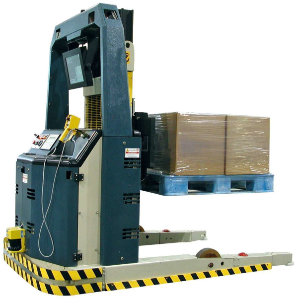 Heavy duty automatic forklift laser guided vehicle for cargo stacking
