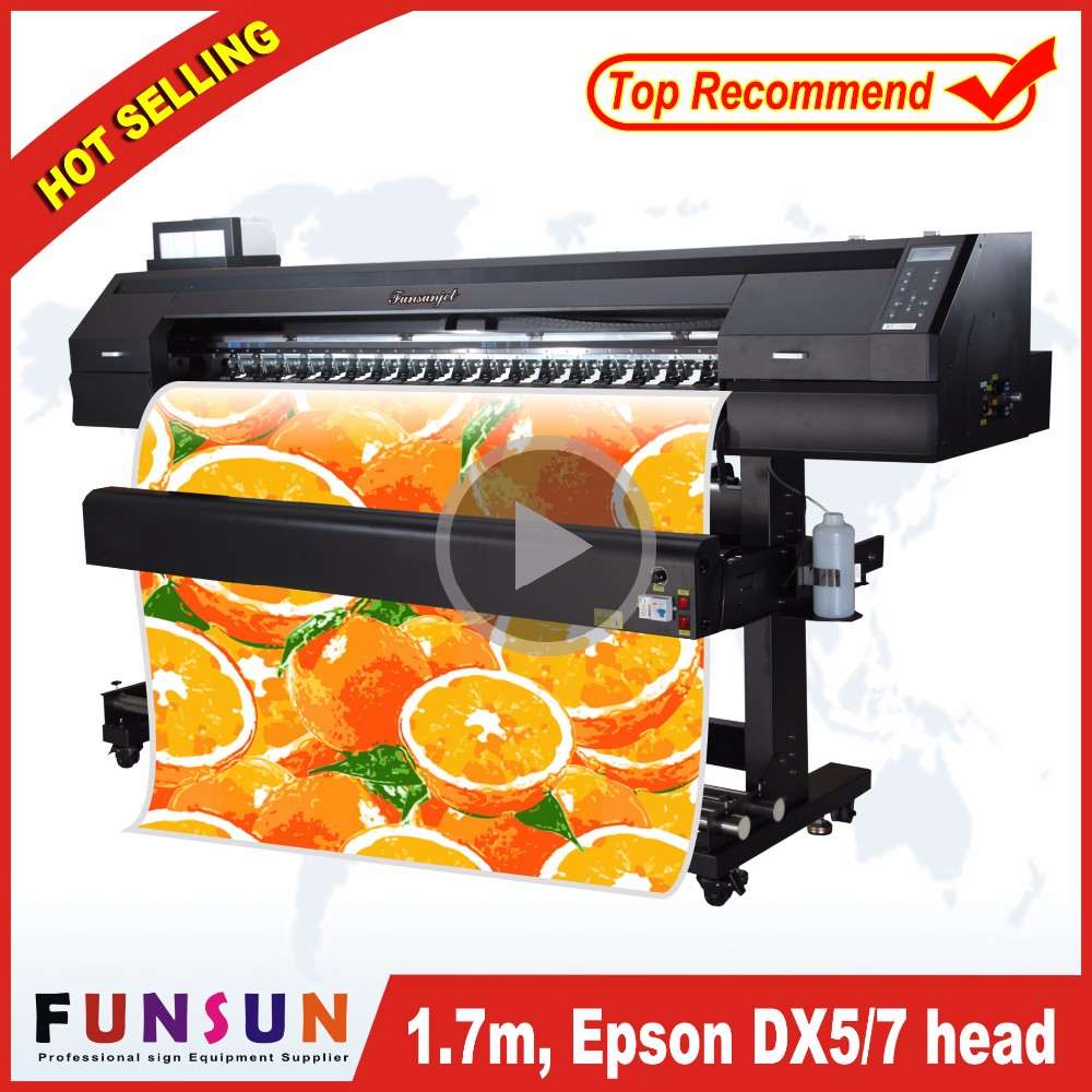 Commercial photo printers Funsunjet FS1700Kdigital fabric printing plotter for mesh with dx5 dx7 head 1440dpi