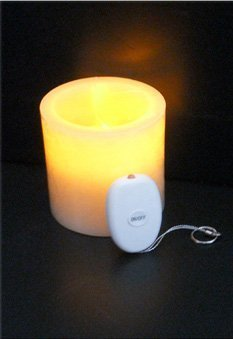 Single Wireless Remote Control Battery Operated Candle 3Inch