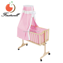 Wholesales nursery furniture sets wooden swing baby crib bed cot design