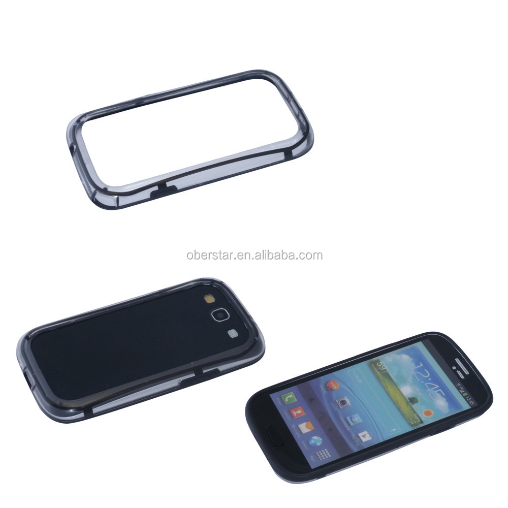 Clear Frame For Samsung Galaxy S3 i9300 TPU+PC Bumper Phone Protect Shell