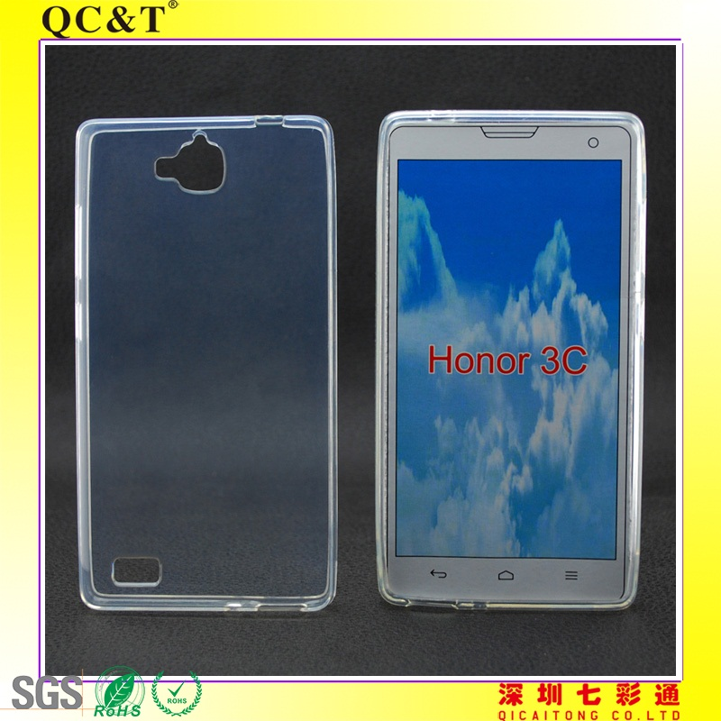 tpu plain mobilephone cover for Huawei Honor 3C