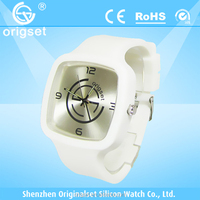 Newest Silicone Watch 5ATM Waterproof Japan Movement Customs logo 3 atm water resistant watch