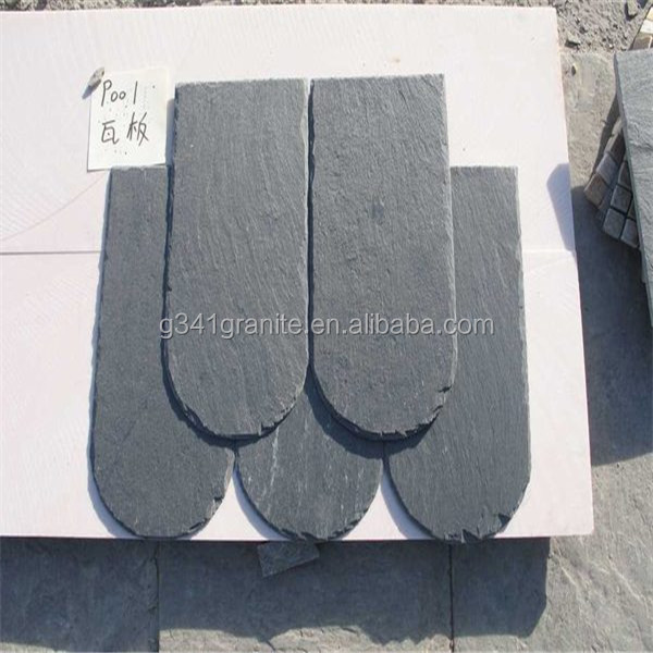 Chinese Natural Slate Roofing slate slabs dark grey roof tile