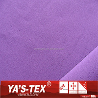 Water Resistant Fleece Fabric Polyester Spandex Microfiber Fabric For Sportswear